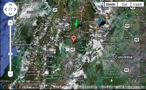 Trzęsienie ziemi w Kolumbii Lipiec 29, 2010 - obszar epicentrum i bezpieczne sygnały QuakeSIOS