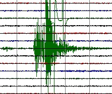 Listă cutremure octombrie 14, 2011 Seismograph-recording
